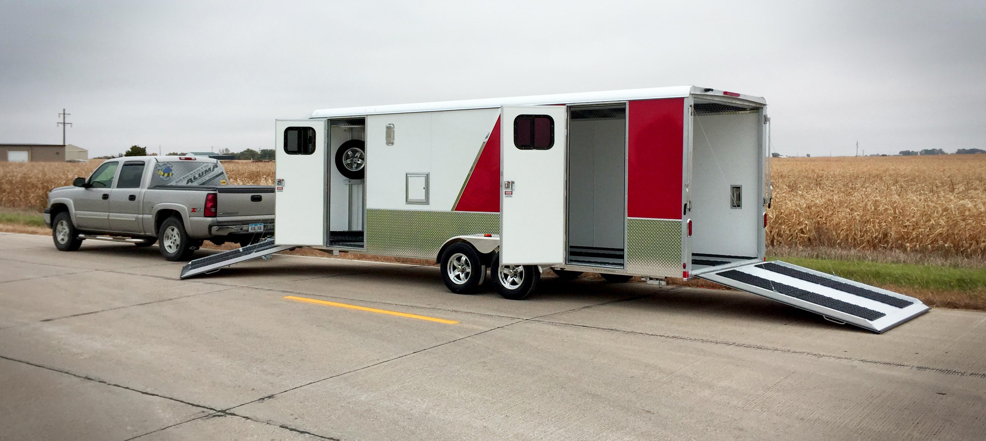 Cargo Pro 8 X 9 Aluminum 2 Place Atv Trailer Drive
