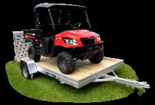 7800ESW - Wood Deck Utility Trailers