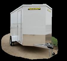 ESW610R-712R | Aluma Flat Top Wood Deck Single Axle Enclosed Trailers