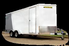 ESW614TAR-718TAR | Aluma Flat Top Wood Deck Tandem Axle Enclosed Trailers